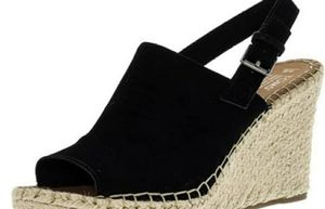 Toms Black Wedge Shoes